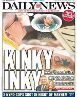 The cover of the Friday, Jan. 4, 2013, edition of the New York Daily News, features New York Jets coach Rex Ryan's tattoo of his wife. (AP Photo/New York Daily News, Andrew Theodorakis) NYC LOCALS OUT
